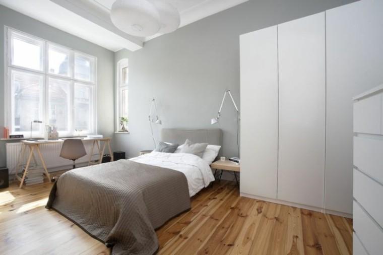 dormitorio estilo nordico armario blanco
