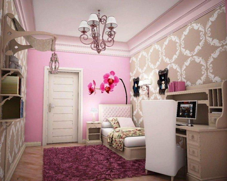 dormitorio color rosa chica joven