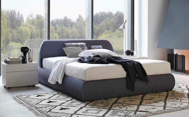dormitorios matrimonio modernos alfombra preciosa ideas