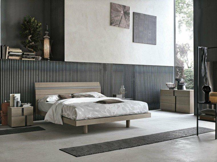 dormitorios matrimonio modernos cama madera mesilla noche preciosa ideas - Habitacion Matrimonio Moderna