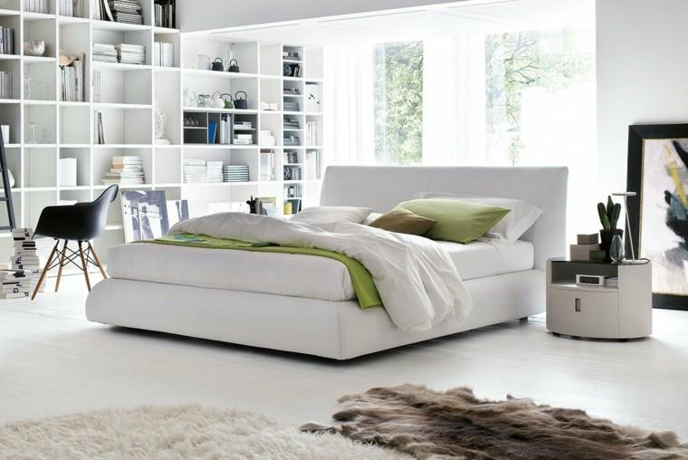 dormitorios matrimonio modernos estanterias blanca ideas - Habitacion Matrimonio Moderna