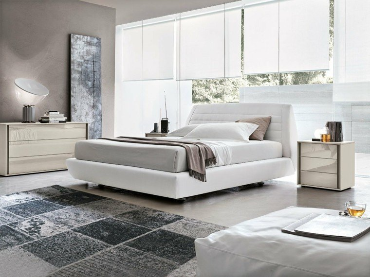Dormitorios matrimonio modernos 50 ideas sensacionales - Dormitorios blancos modernos ...
