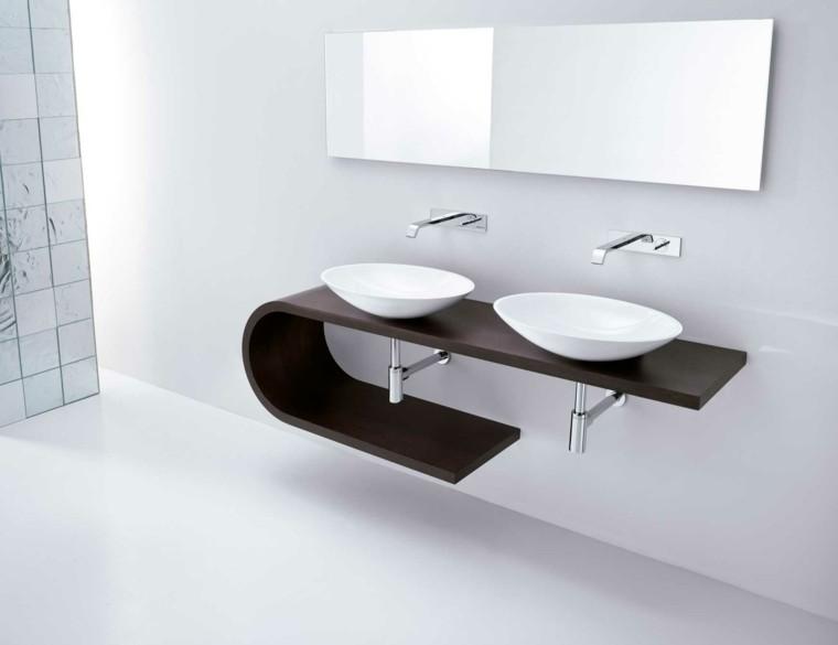 dos lavabos de diseño moderno