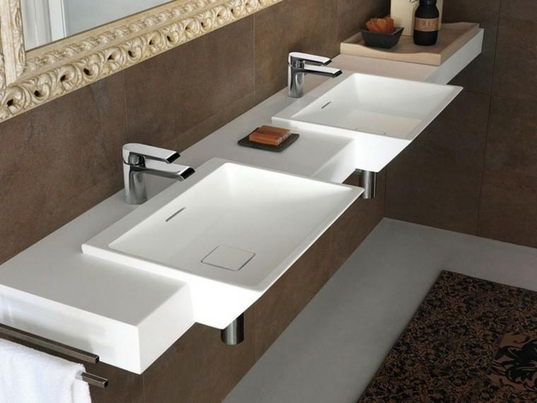 dos lavabos cerámica diseño moderno