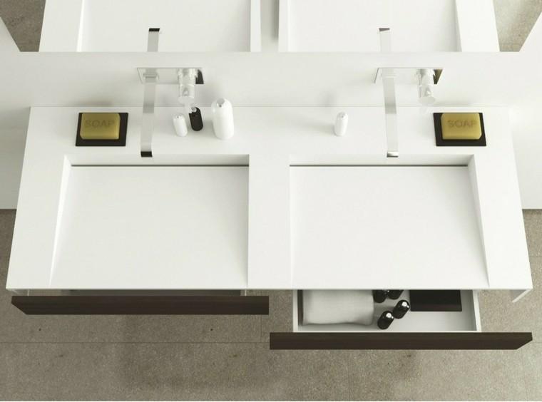 mueble dos lavabos estilo moderno with muebles de bao diseo moderno