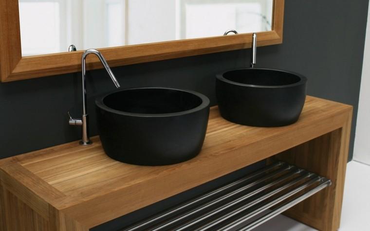 dos lavabos redondos negros Royal Botania