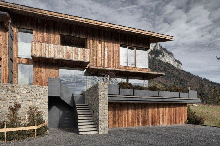 dsieño moderno casa madera montaña