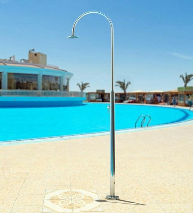 ducha aluminio diseo simple piscina