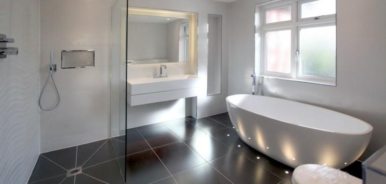 ducha esquina cristal separacion luces