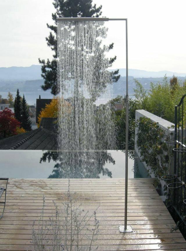ducha moderna diseño cortina agua