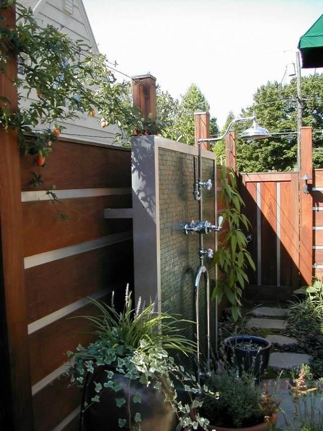 Platos de ducha de obra para el jardín - 63 imágenes