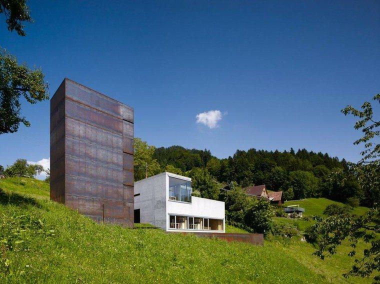 edificio moderno campo verde