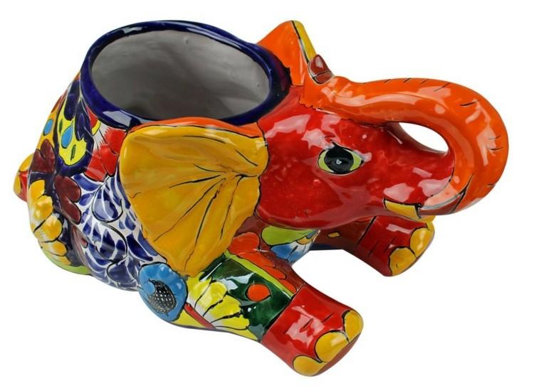 maceta elefante ceramica varios colores