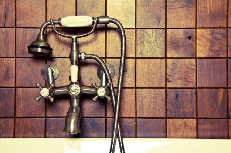 elegante baño ducha arte tradicional