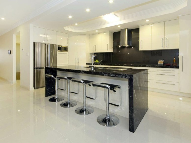 elegante marmol metal estantes led