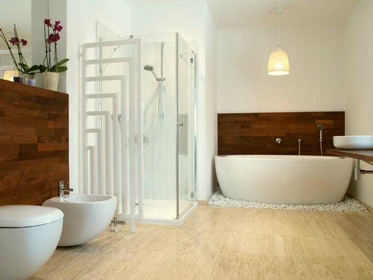 elegante pared espacio baño espacio