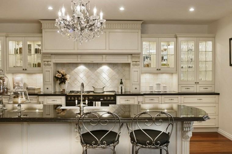 elegante tradicional habitacion lamparas forja