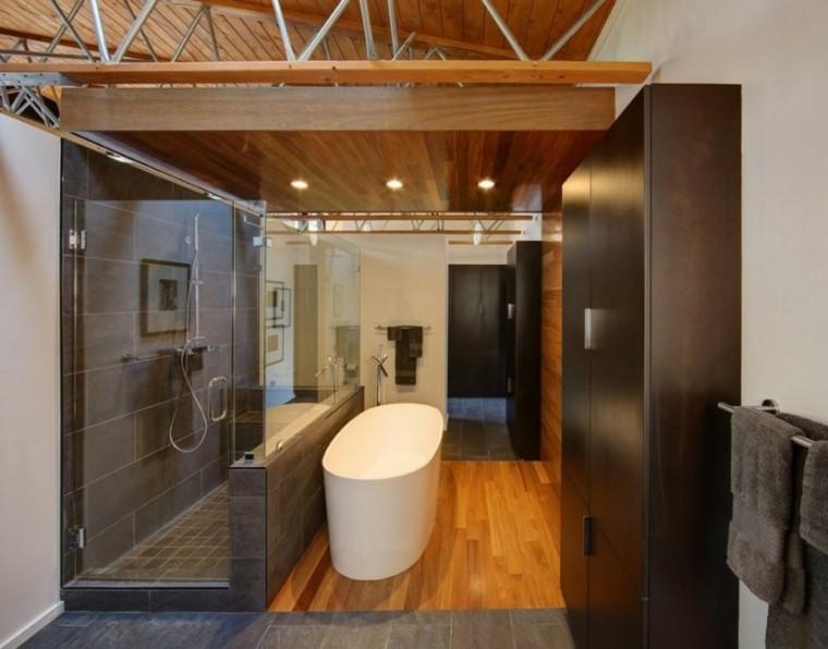 elegante madera diseño casa metal