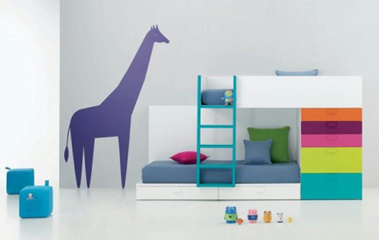 encantadora sillones azul jirafa colorida