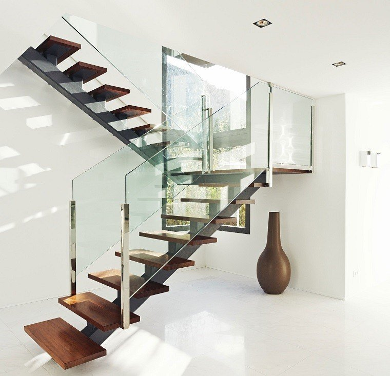 Decorar escaleras con estilo 50 ideas for Escaleras metal madera para interiores
