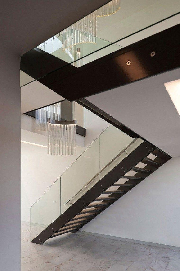 Decorar escaleras con estilo 50 ideas - Barandas escaleras modernas ...