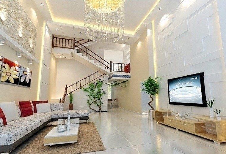 diseño salon lujoso escaleras