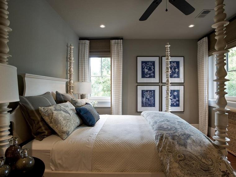escapada romántica cama dosel blanca madera ideas