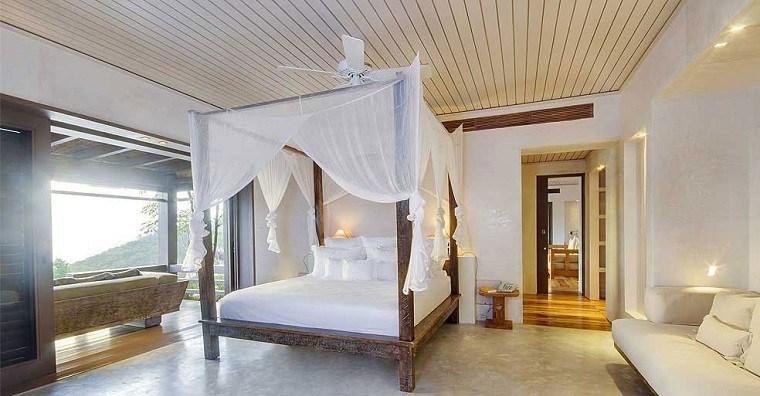 escapada romántica dormitorio terraza cama dosel ideas