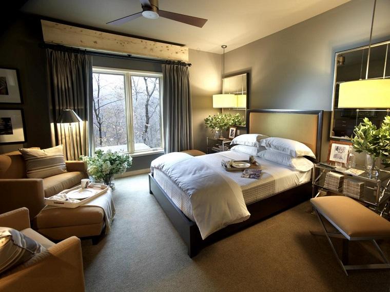 escapada romántica flores frescas dormitorio moderno ideas