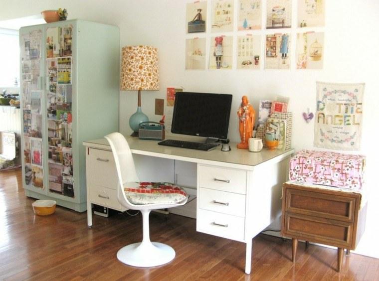 escritorio decorado motivos retro