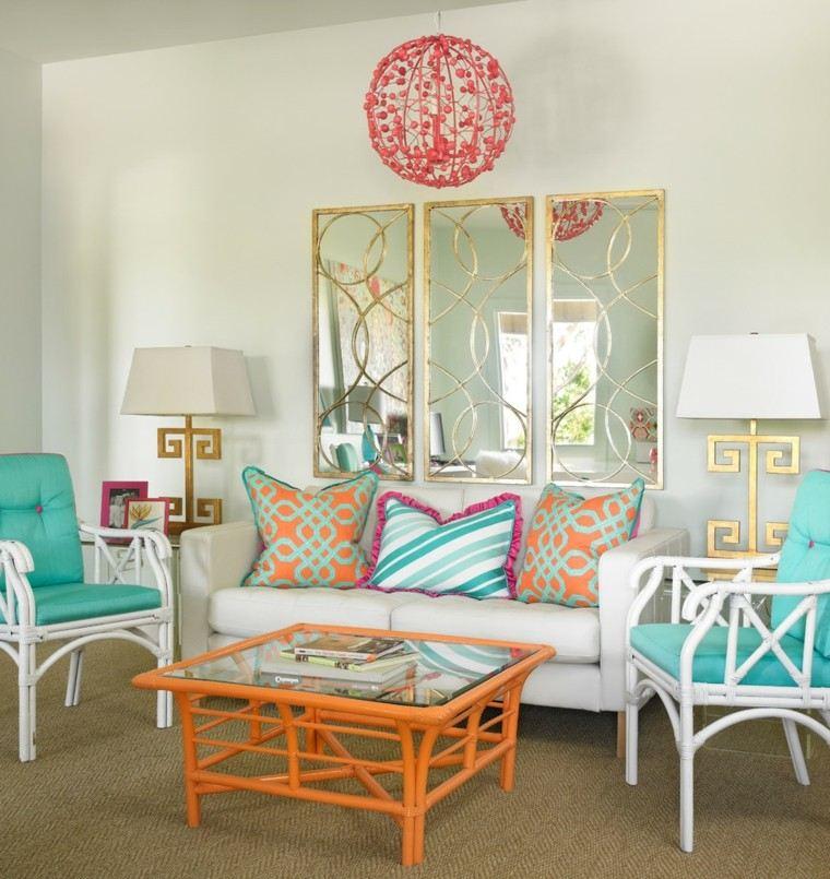 esfera lampara rosa muebles cojines