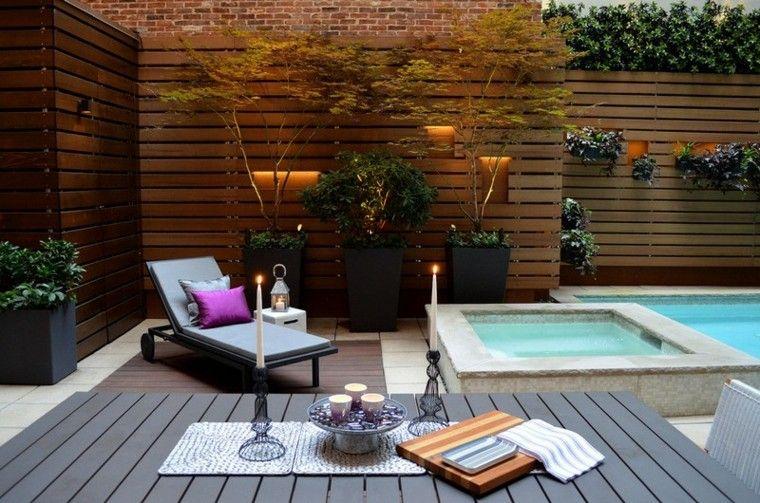 Espacio para jardines peque os 75 dise os impresionantes Decoracion de patios pequenos con pileta