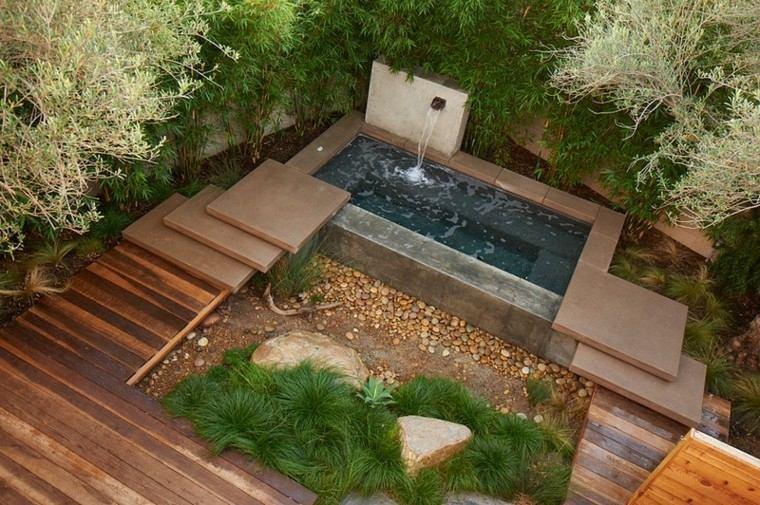 Espacio para jardines peque os 75 dise os impresionantes - Piscina en terraza peso maximo ...