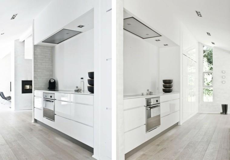 espacio en blanco cocina minimalista toques negro ideas