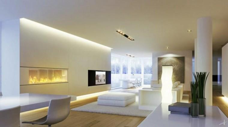 espacios interior modernos chimenea salas