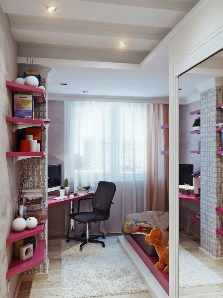 esquina dormitorio chica moderno pequeño