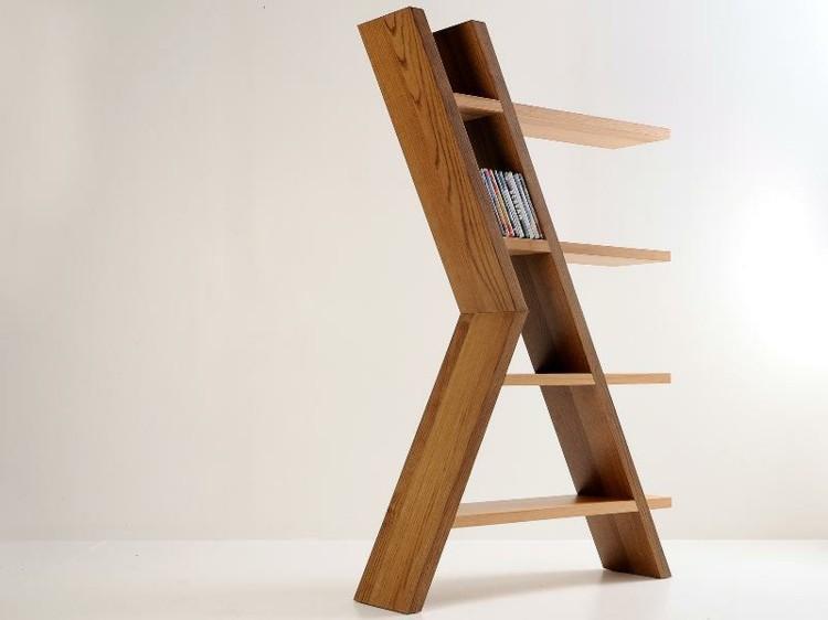 estanteria madera patas escaleras