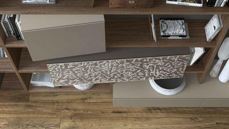 estanterias madera laminada cajas grises