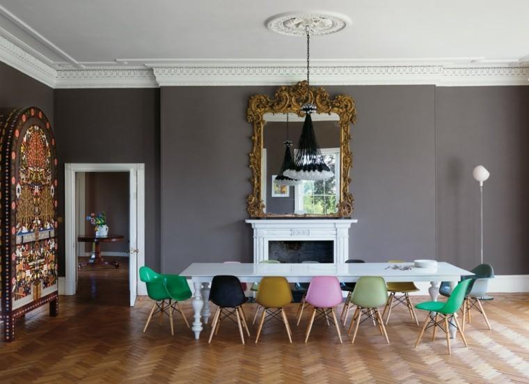 estilo colorido sillas blanco muebles