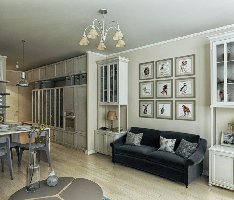 Decorar espacios peque os es muy f cil con estas ideas for Salon comedor clasico