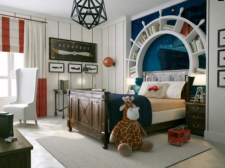 estilo marinero decoracion habitacion nino ideas