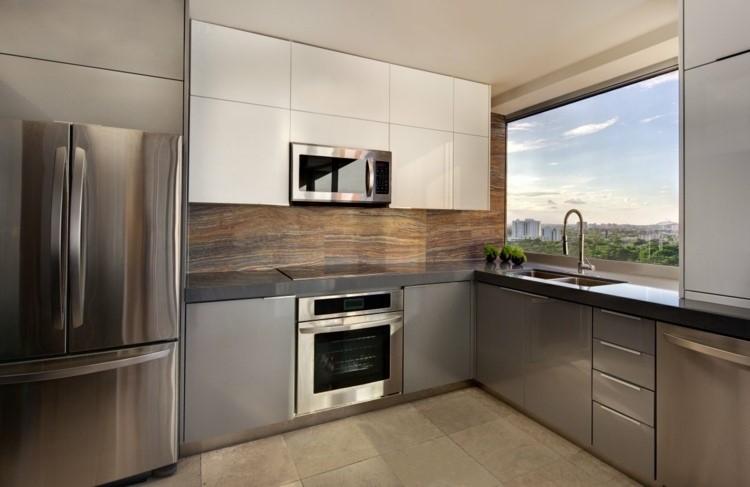 estilo minimalista cocina panel granito ideas