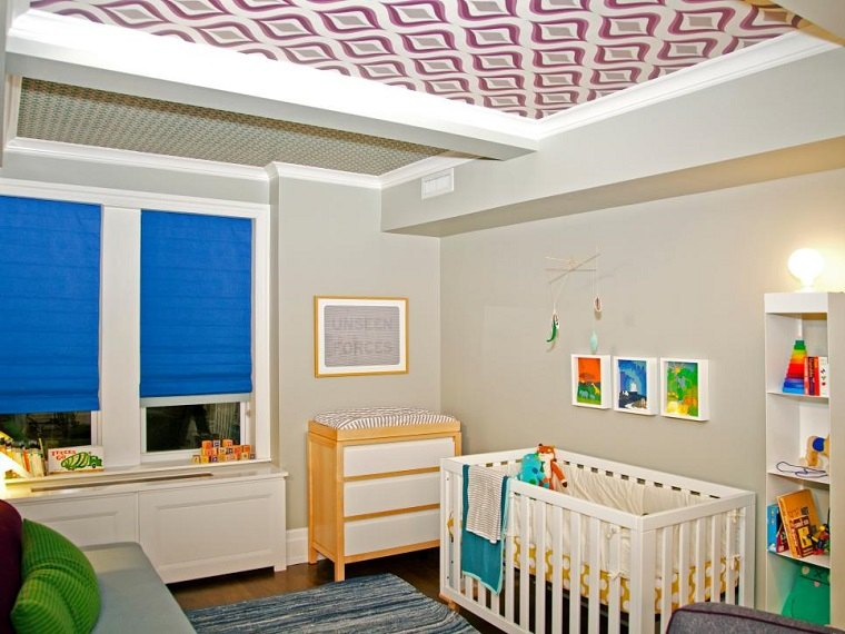 Wron deco habitacion techo azul iluminacion ikea - Cortinas ikea habitacion ...