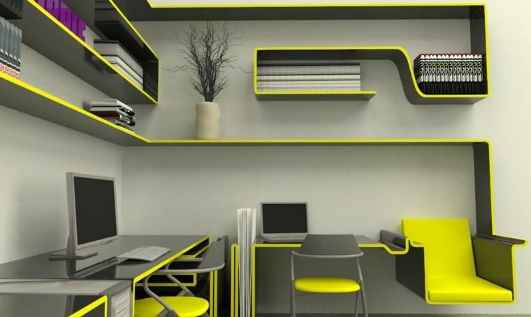 estructura modular amarilla estilo moderno