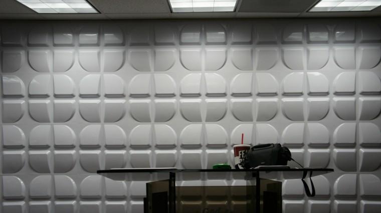 estudio moderno mesa gris papel