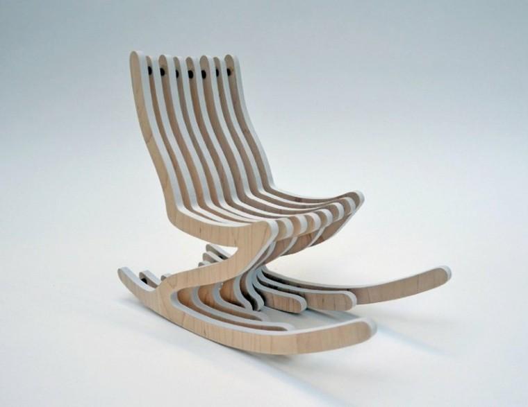 estupendo diseño balancin jardin madera