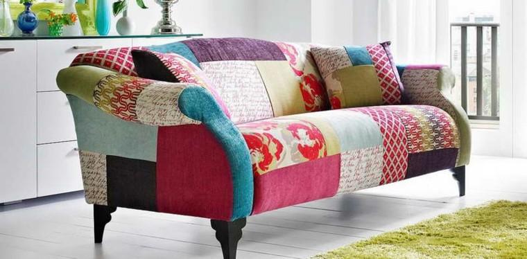 estupendo sofa diseño parches telas
