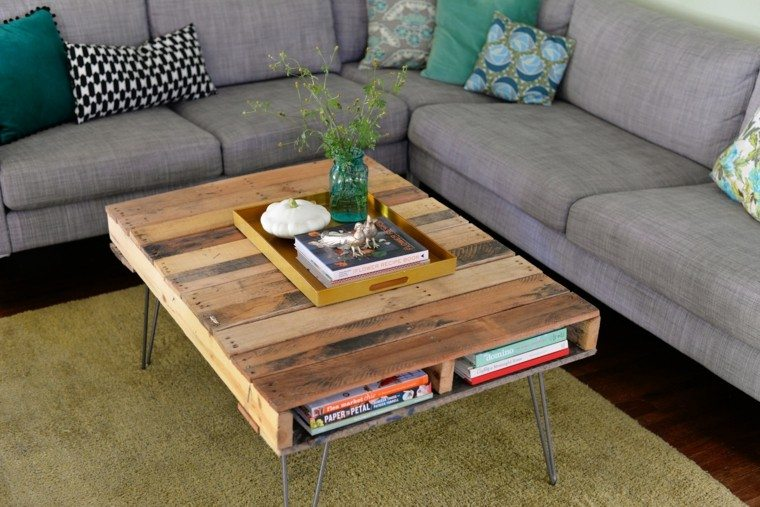 estupenda mesa moderna pallets madera