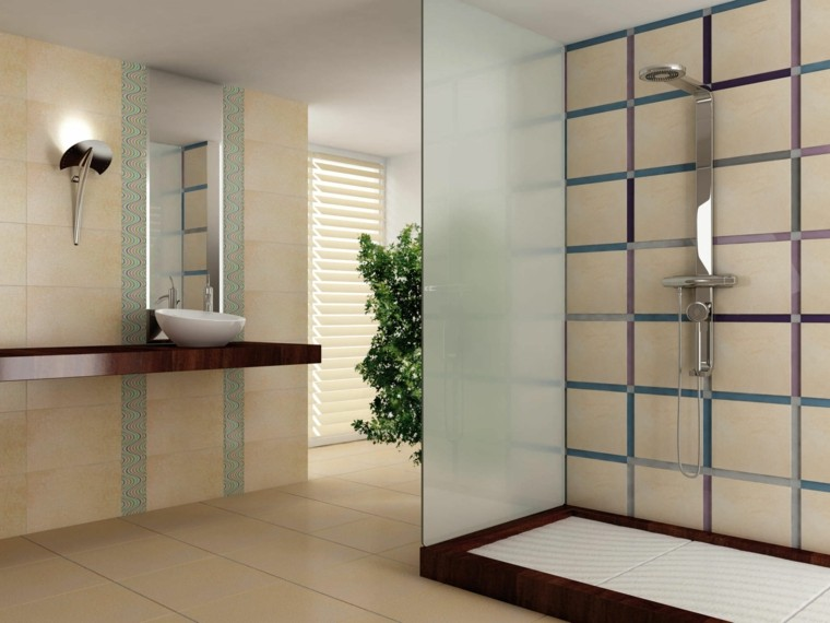 Baños Duchas Modernos:Baños con plato de ducha – veinticinco ideas