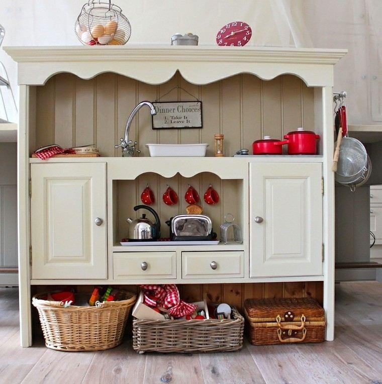 estupendo diseño mueble cocina retro